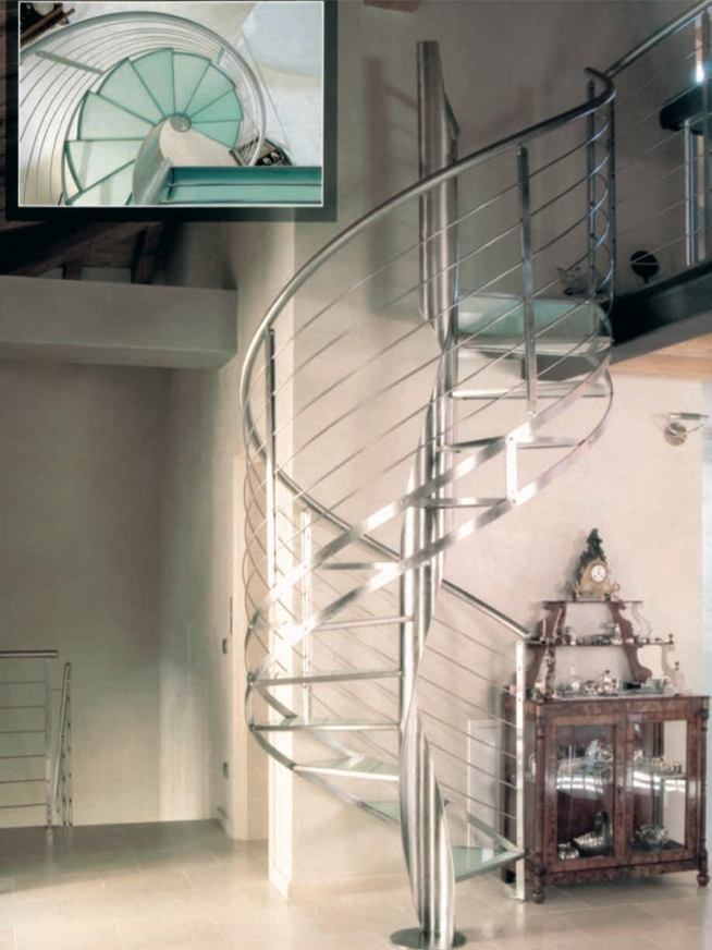 ringhiere scale interne in vetro brescia
